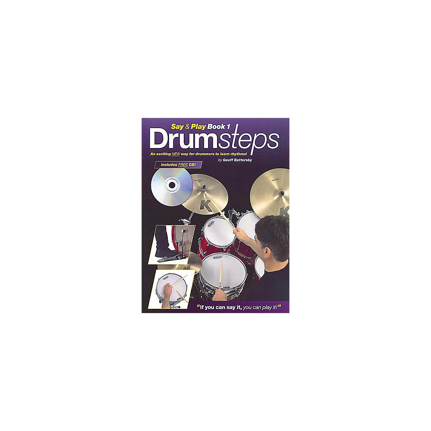 Music Sales Drumsteps Say and Play Book 1 Music Sales America Series Written by Geoff Battersby thumbnail
