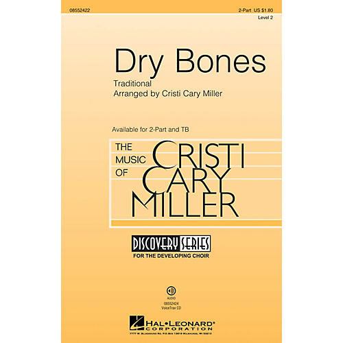 Hal Leonard Dry Bones (Discovery Level 2) 2-Part arranged by Cristi Cary Miller thumbnail