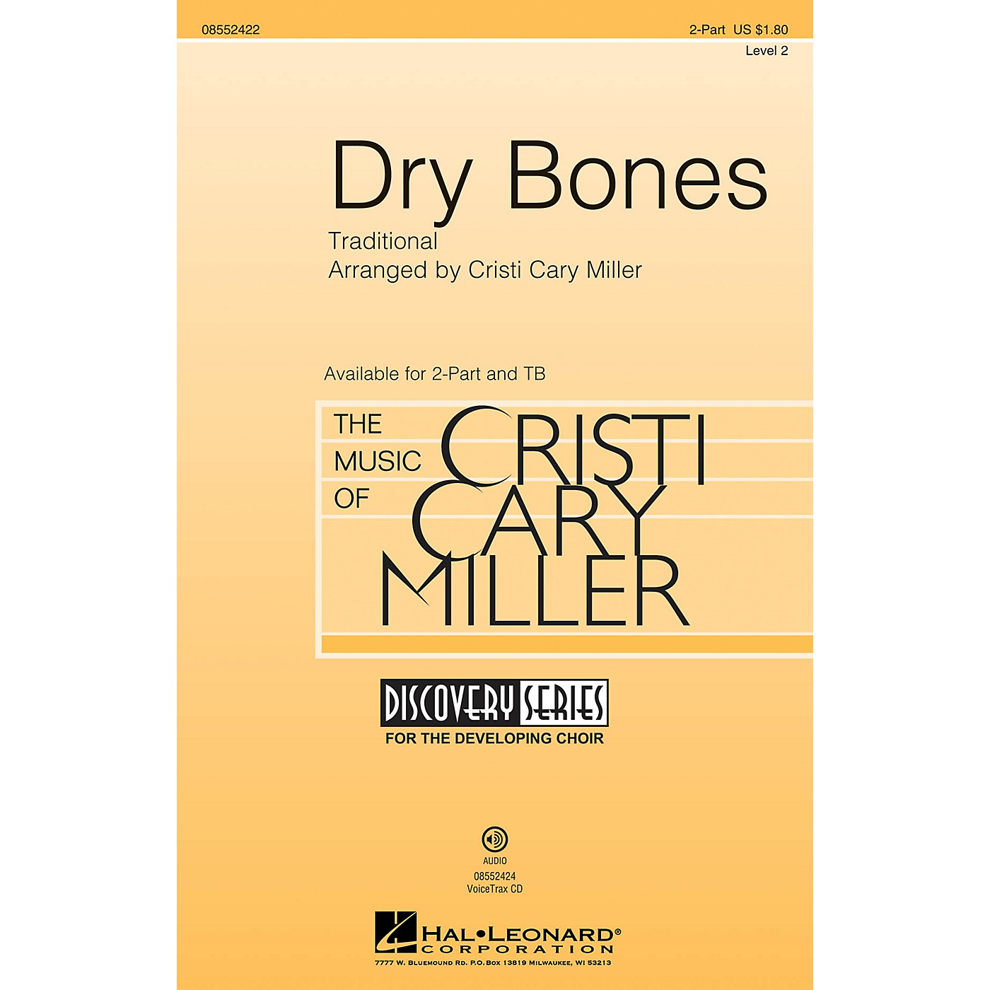 Hal Leonard Dry Bones (Discovery Level 2) TB Arranged by Cristi Cary Miller thumbnail