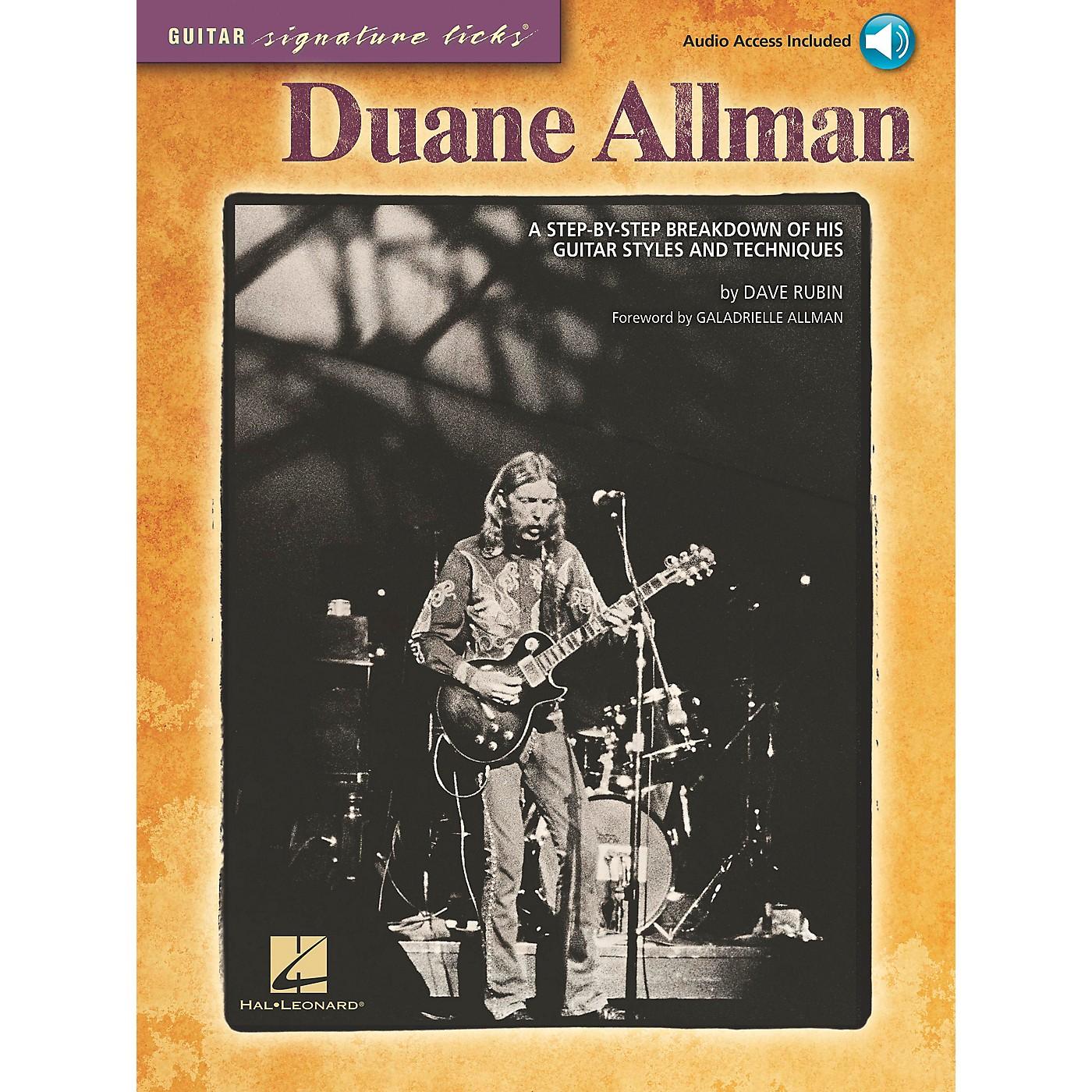 Hal Leonard Duane Allman - Guitar Signature Licks Book/CD thumbnail