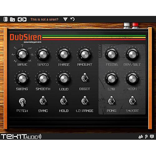 Tek'it Audio DubSiren Virtual Synthesizer Plig-in Software Download thumbnail
