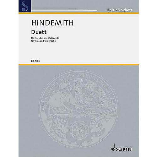 Schott Music Duet (1934) Schott Series Composed by Paul Hindemith thumbnail