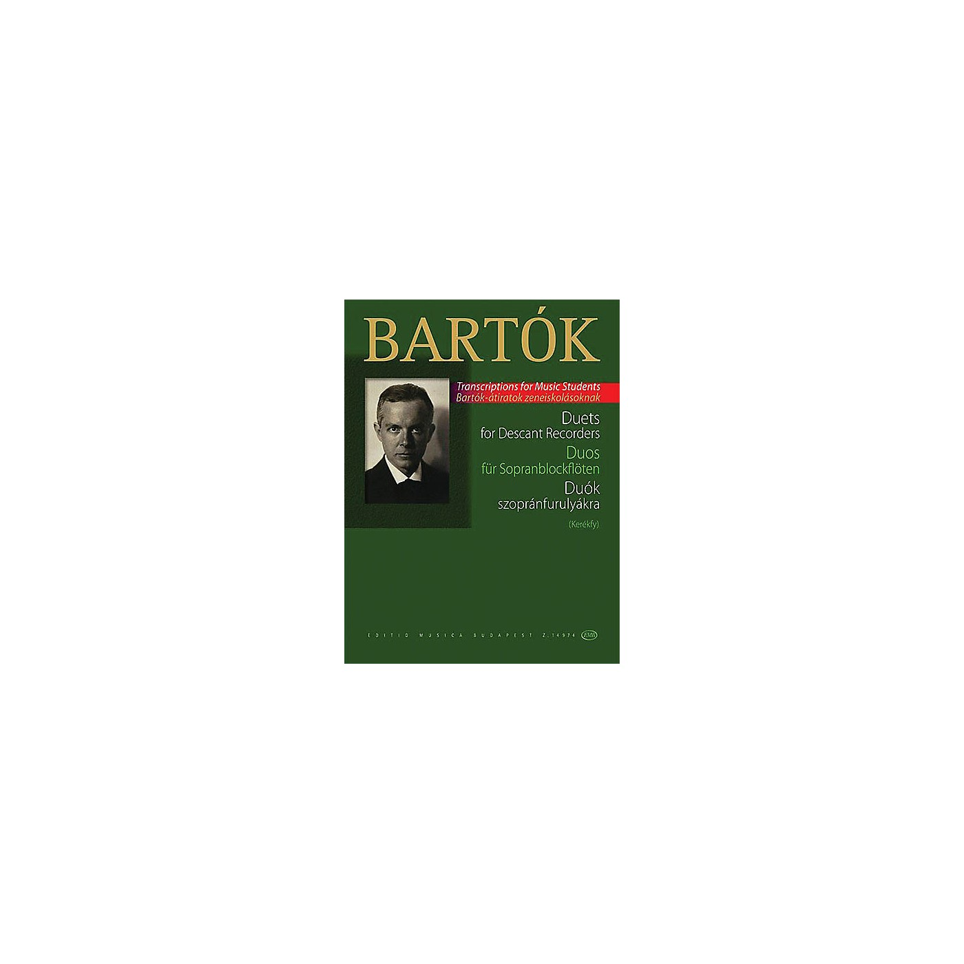 Editio Musica Budapest Duets for Descant Recorders (from the Children's and Female Choruses) EMB Series Softcover by Béla Bartók thumbnail