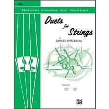 Alfred Duets for Strings Book I Bass