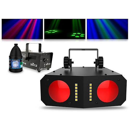 CHAUVET DJ Duo Moon with Hurricane 700 Fog Machine and Juice thumbnail