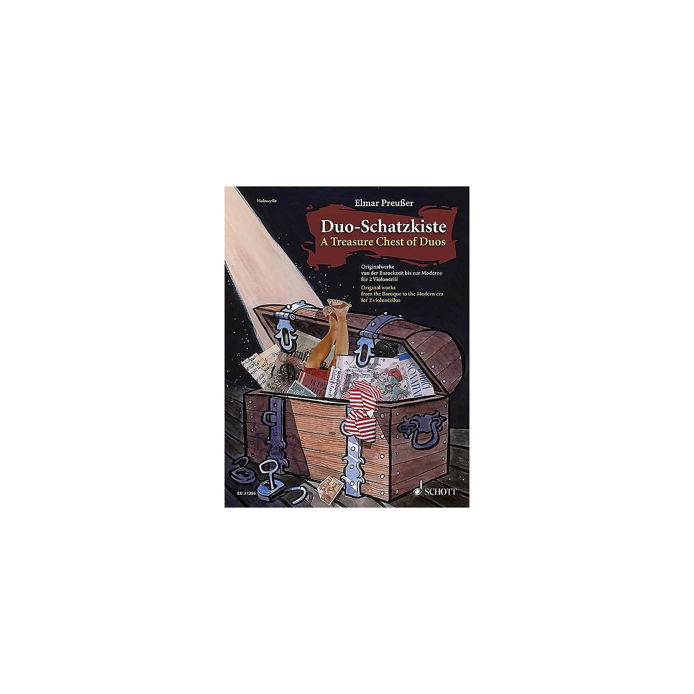 Schott Duo-Schatzkiste (A Treasure Chest of Duos) (Cello Duet Performance Score) String Series Softcover thumbnail