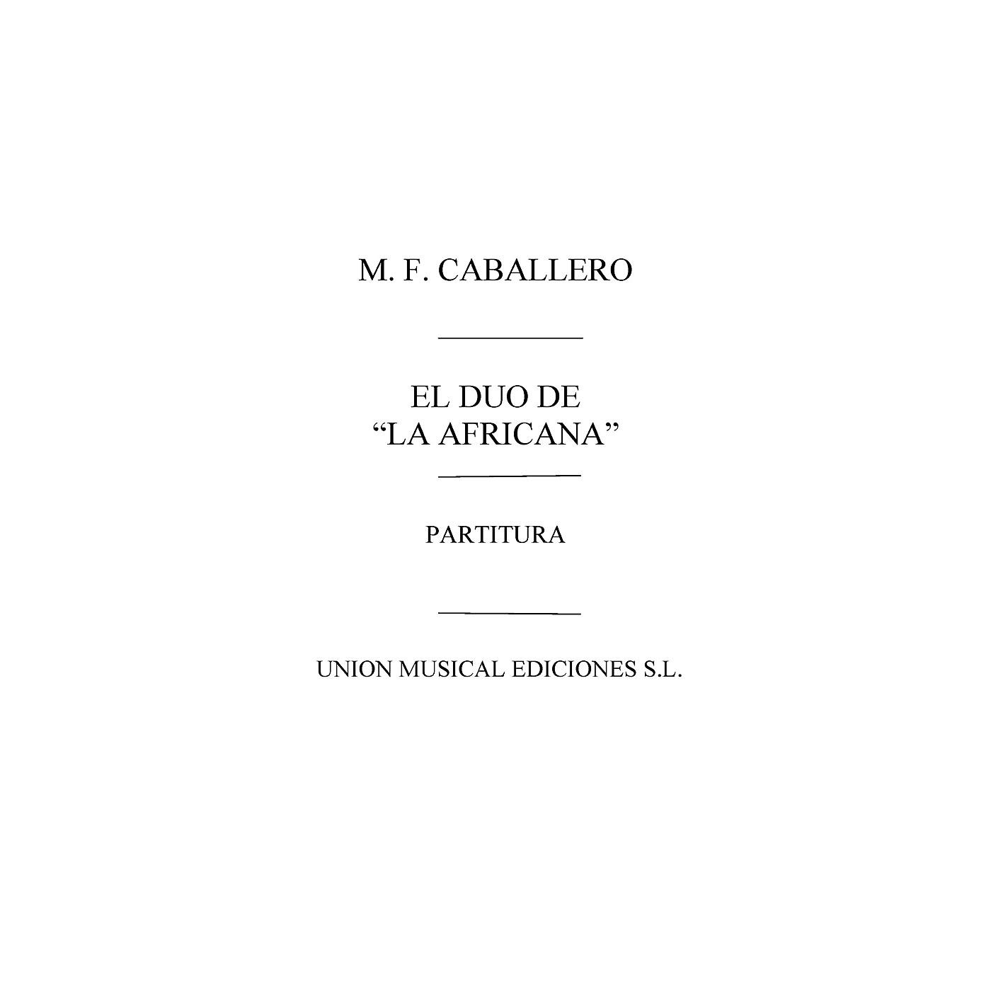 Music Sales Duo de la Africana Partitura Vocal Score Composed by Manuel Fernandez Caballero thumbnail