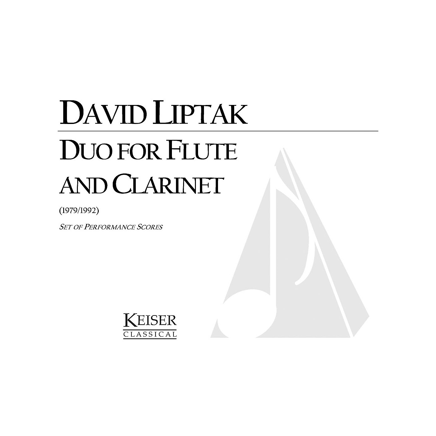 Lauren Keiser Music Publishing Duo for Flute and Clarinet LKM Music Series Composed by David Liptak thumbnail