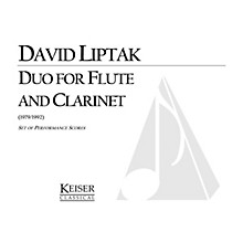 Lauren Keiser Music Publishing Duo for Flute and Clarinet LKM Music Series Composed by David Liptak