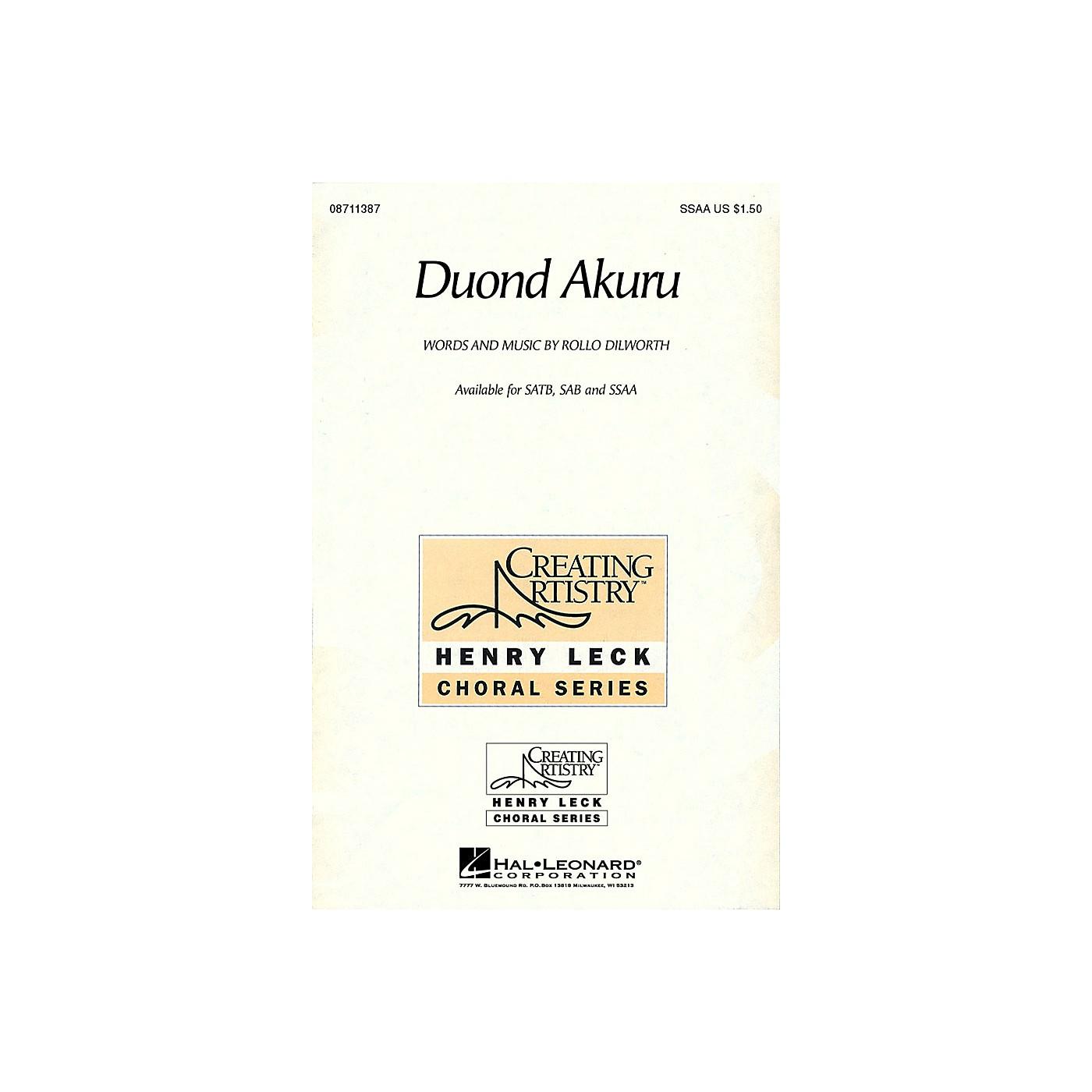 Hal Leonard Duond Akuru SSAA composed by Rollo Dilworth thumbnail