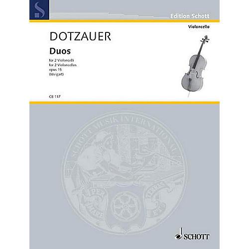 Schott Duos Op. 15 (2 Cellos) Schott Series Composed by Justus Johann Friedrich Dotzauer thumbnail