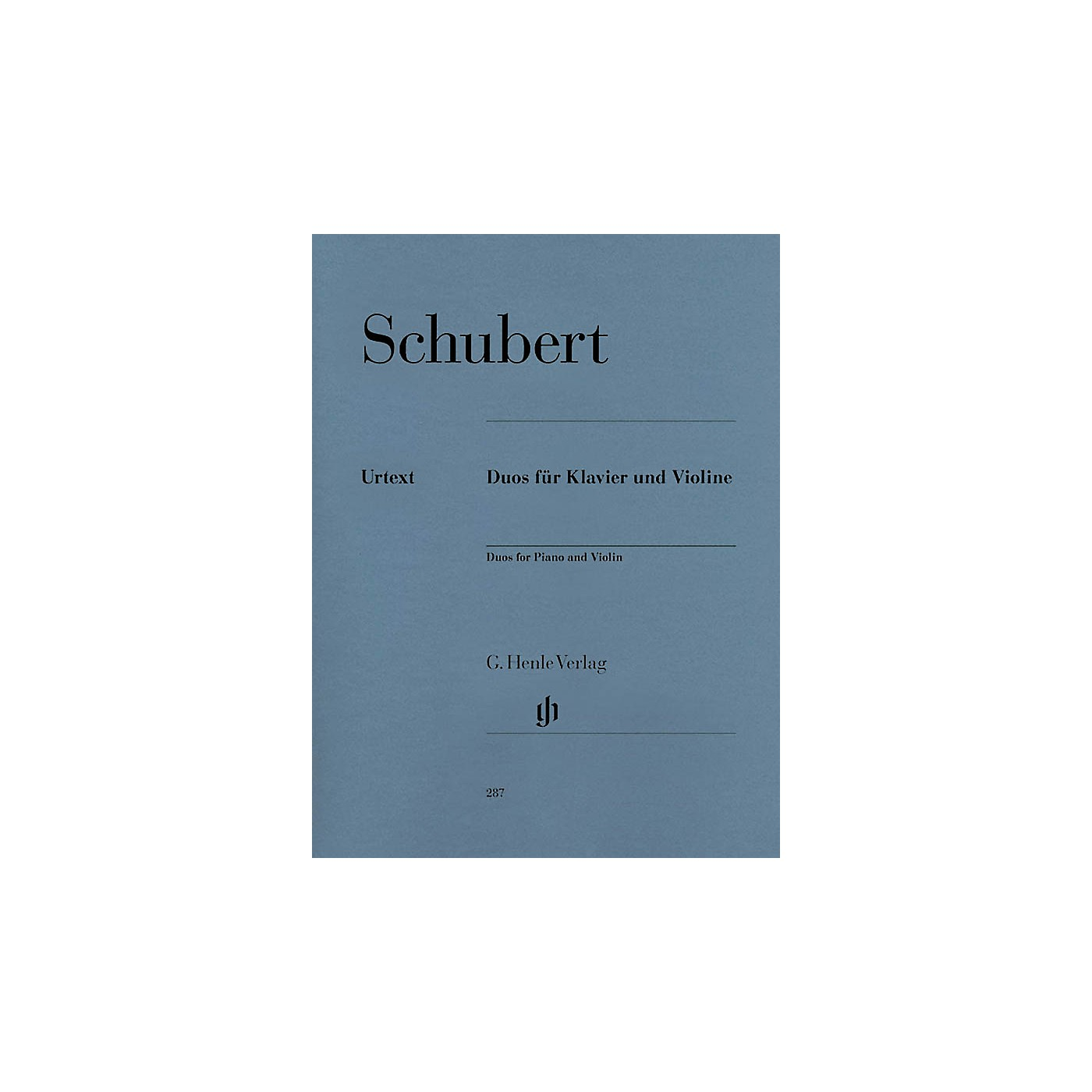 G. Henle Verlag Duos for Piano and Violin Henle Music Folios Series Softcover thumbnail