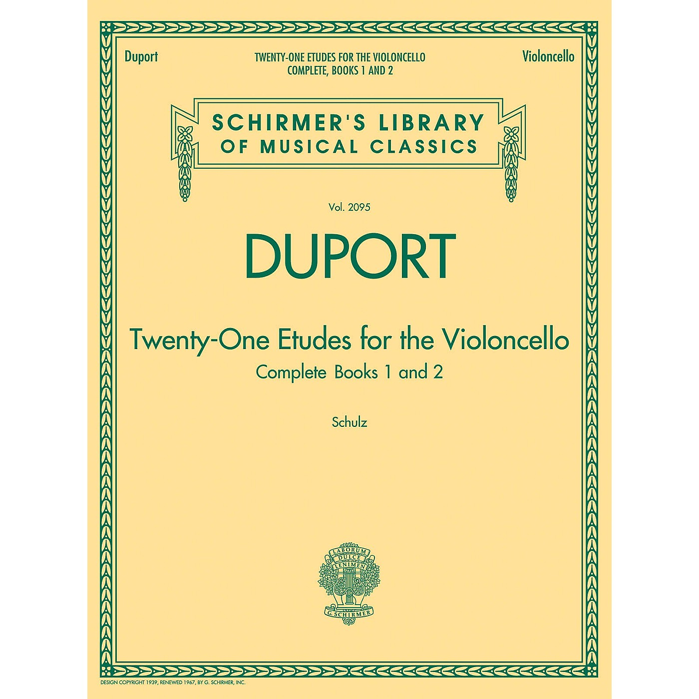 G. Schirmer Duport - 21 Etudes for the Violoncello, Complete Books 1 & 2 String Method Series Softcover thumbnail