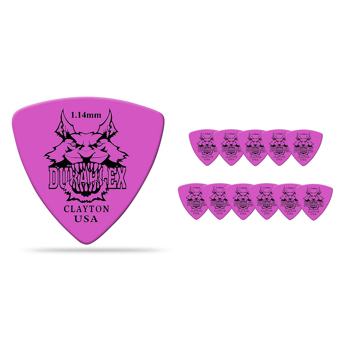 Clayton Duraplex Delrin Rounded Triangle Picks 1 Dozen thumbnail