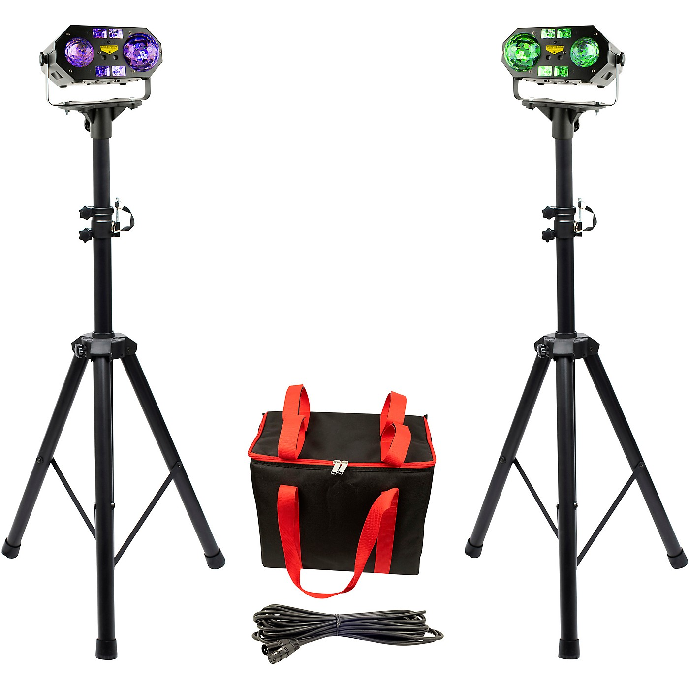 VocoPro Dynamic-Duo-Plus, Two DJ-Smart-LightShows Package With Two SS-99 Stands and Carrying Bag thumbnail