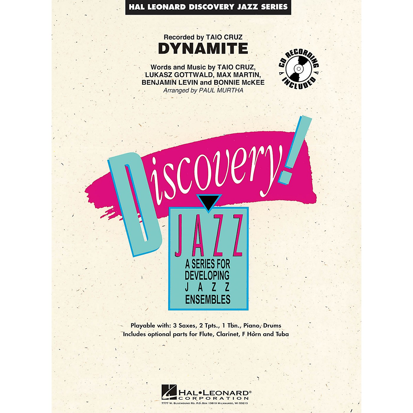 Hal Leonard Dynamite Jazz Band Level 1-2 by Taio Cruz Arranged by Paul Murtha thumbnail