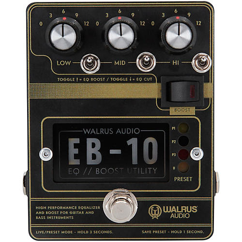 Walrus Audio EB-10 Preamp/EQ/Boost Effects Pedal thumbnail