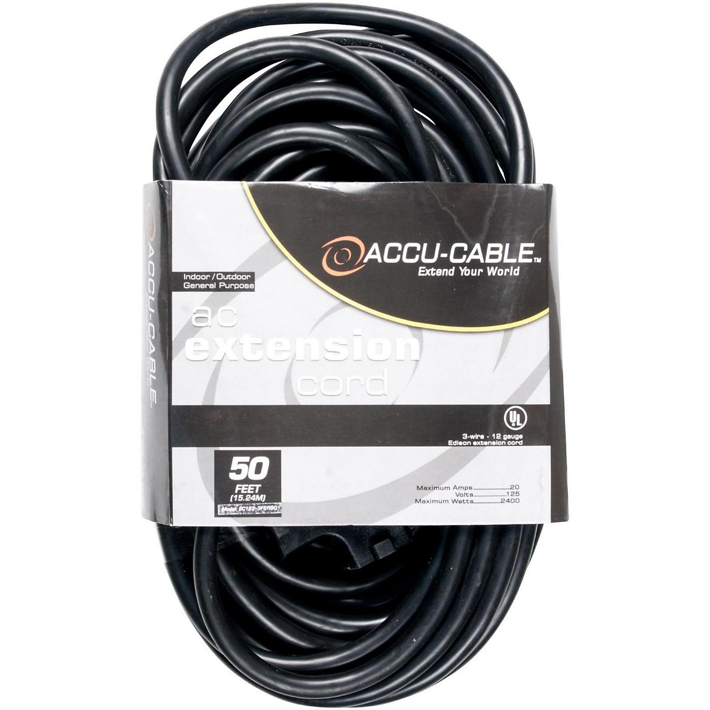 American DJ EC123-3FER 12 Gauge 3-Way IEC Power Extension Cord thumbnail