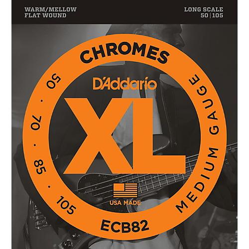 D'Addario ECB82 Chromes Flatwound Medium Bass Strings thumbnail