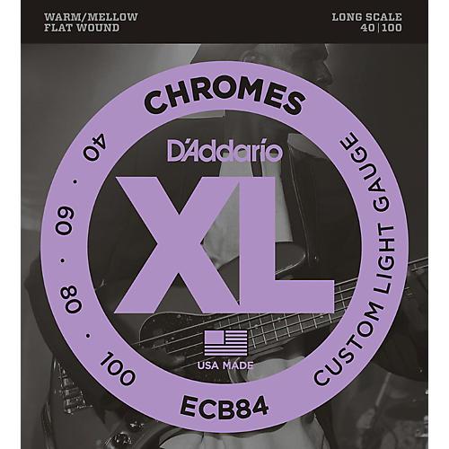 D'Addario ECB84 Chromes Flat Wound Custom Light Long Scale Electric Bass Strings thumbnail