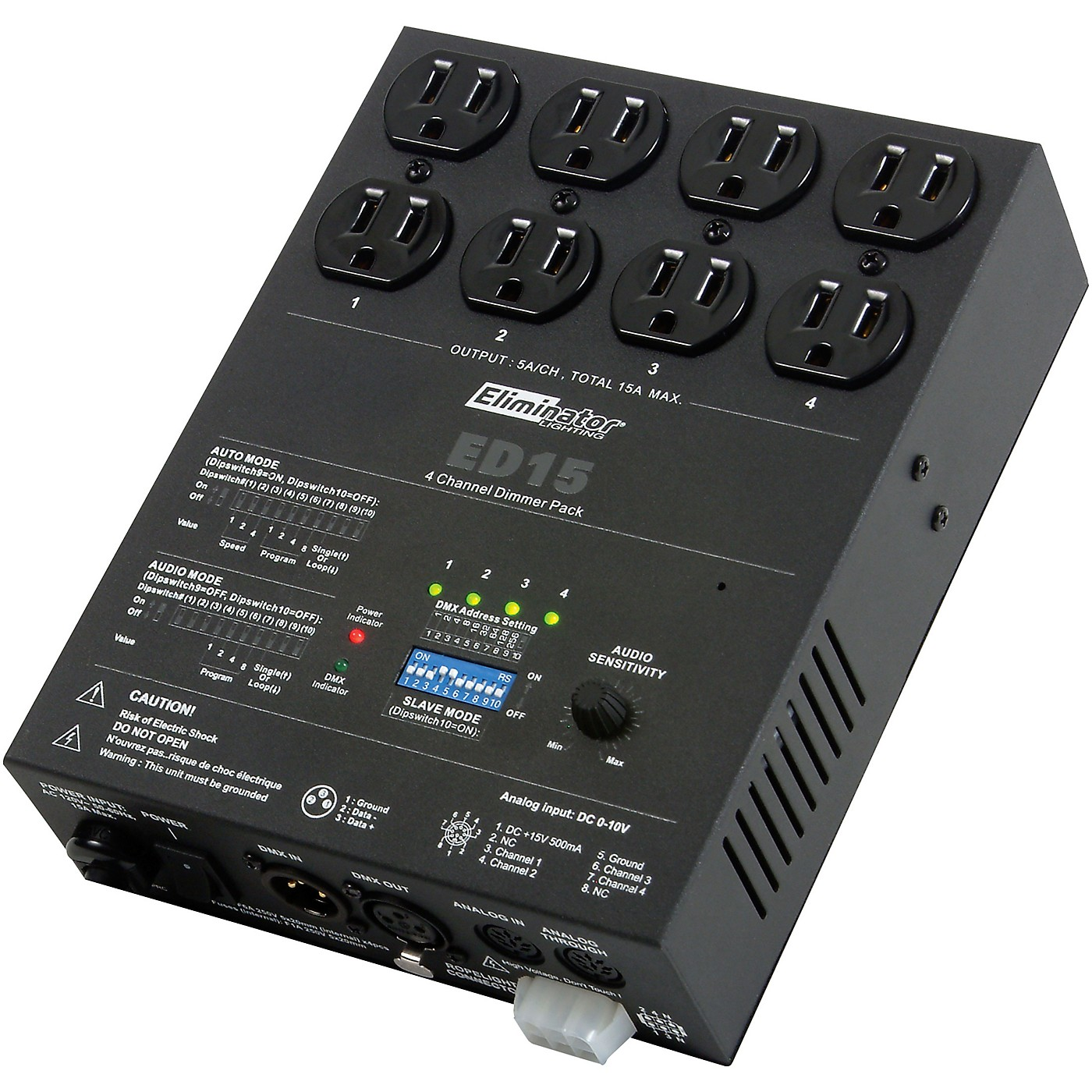 Eliminator Lighting ED-15 4-Channel DMX Lighting Dimmer Pack thumbnail