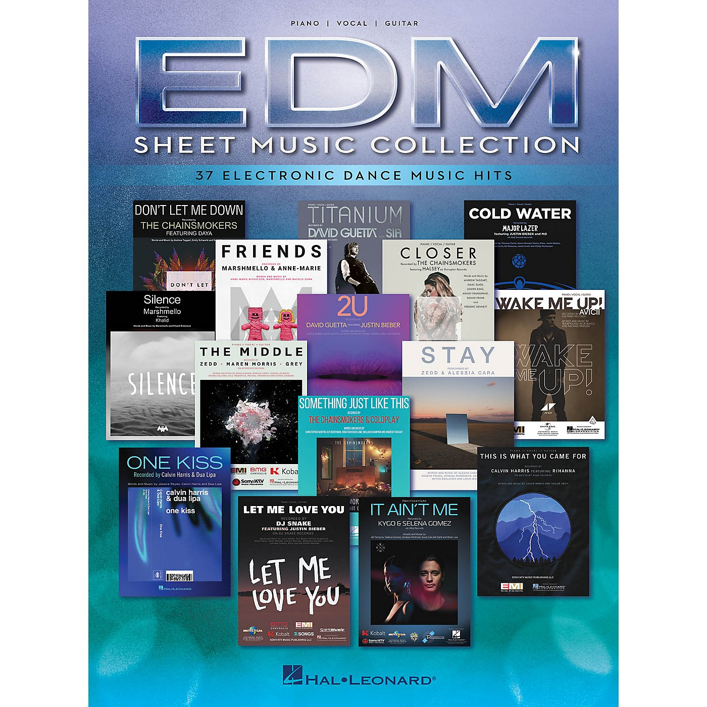 Hal Leonard EDM Sheet Music Collection (37 Electronic Dance Music Hits) Piano/Vocal/Guitar Songbook thumbnail