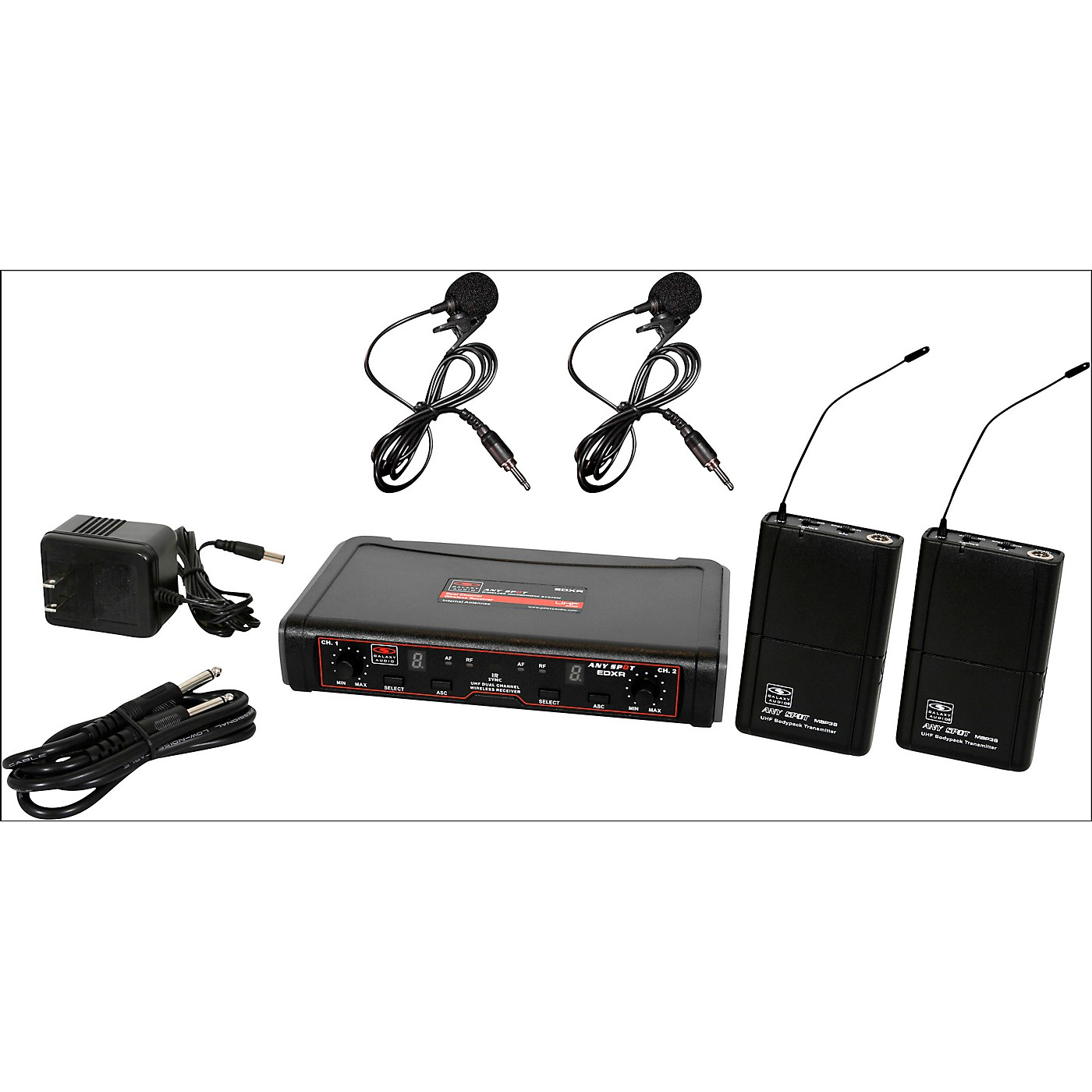 Galaxy Audio EDXR/38VV Dual-Channel Wireless Lavalier System thumbnail