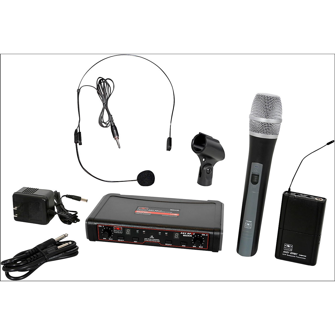 Galaxy Audio EDXR/HHBPS Dual-Channel Wireless Handheld and Headset System thumbnail