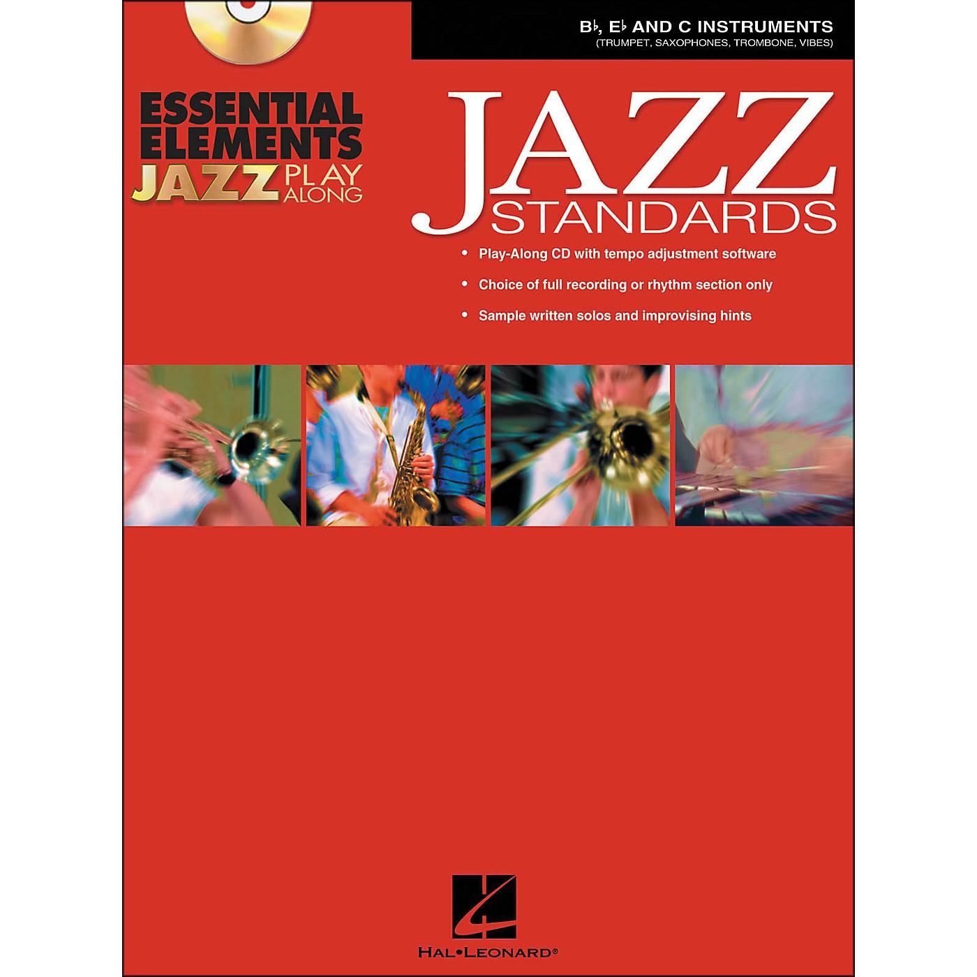 Hal Leonard EE Jazz Play Along: Jazz Standards B-Flat, E-Flat And C Instruments Book/CD-Rom thumbnail