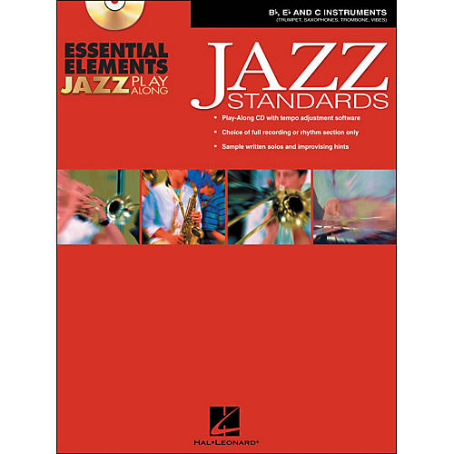 Hal Leonard EE Jazz Play Along: Jazz Standards B-Flat, E-Flat And C Instruments Book/CD-Rom thumbnail