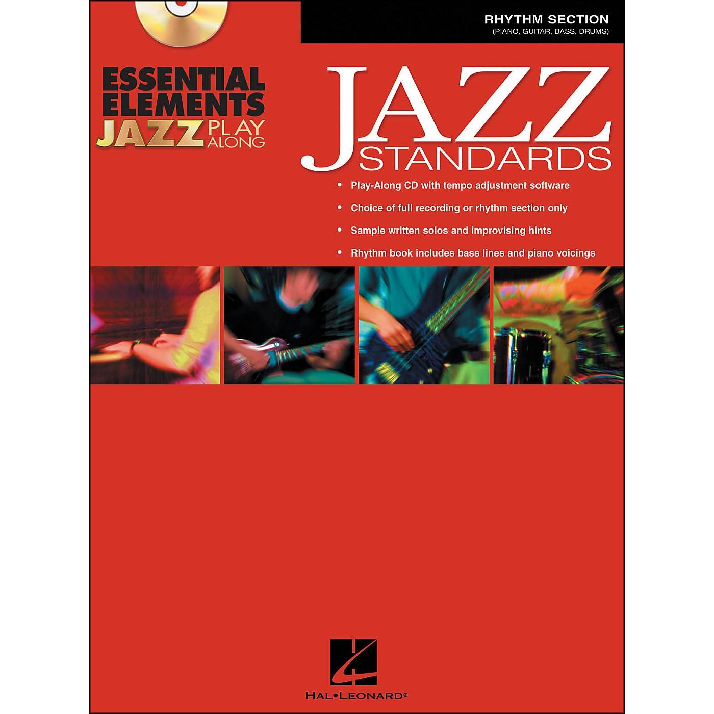 Hal Leonard EE Jazz Play Along: Jazz Standards Rhythm Section Book/CD-Rom thumbnail