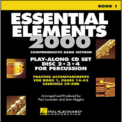 Hal Leonard EE2000 Play Along Trax Book. 1 - Discs 2, 3, & 4 for Percussion-thumbnail