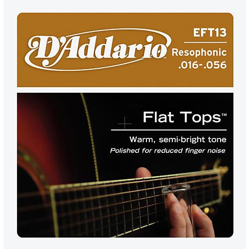 D'Addario EFT13 Flat Top PB Resophonic Acoustic String Set thumbnail