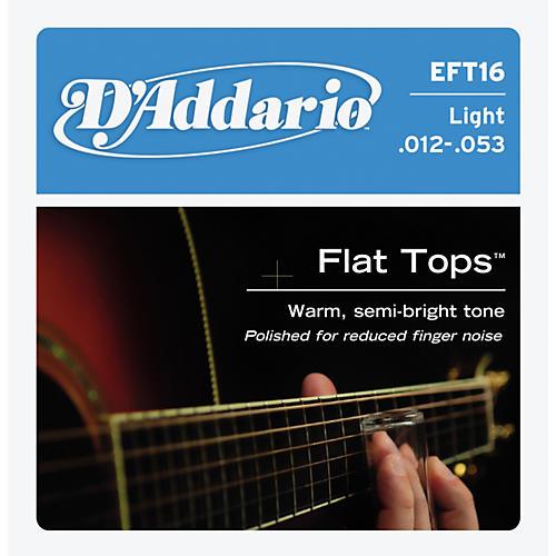 D'Addario EFT16 Flat Top PB Light Acoustic Guitar Strings thumbnail