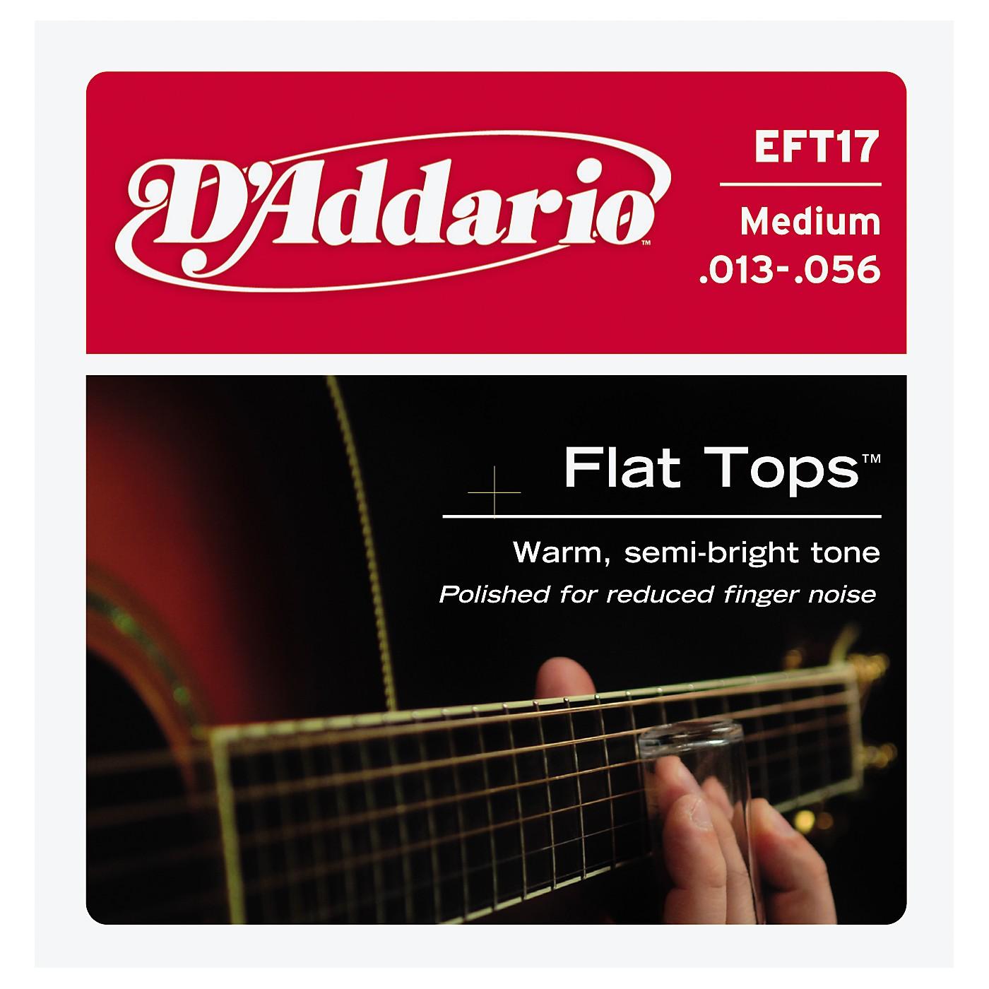 D'Addario EFT17 Flat Top PB Medium Acoustic Guitar Strings thumbnail