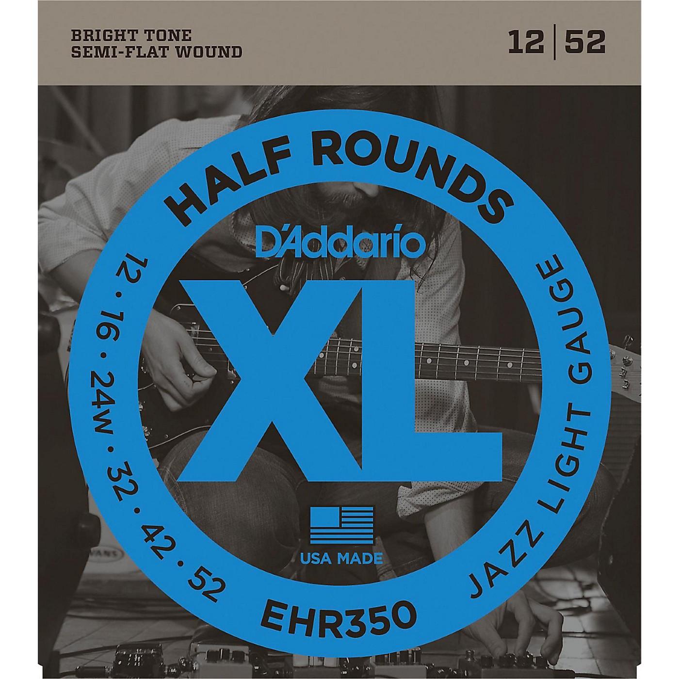 D'Addario EHR350 Half Round Jazz Light Electric Guitar Strings thumbnail