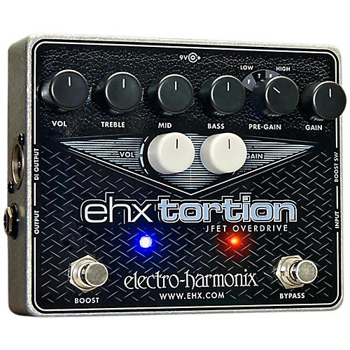 Electro-Harmonix EHXTortion JFET Overdrive Guitar Effects Pedal thumbnail