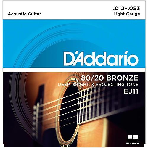 D'Addario EJ11 80/20 Bronze Light Acoustic Guitar Strings thumbnail