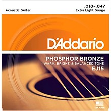 D'Addario EJ15 Phosphor Bronze Extra Light Acoustic Strings Single-Pack