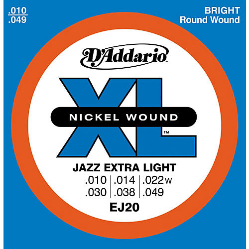 D'Addario EJ20 Nickel Wound Jazz Extra Light Electric Guitar Strings thumbnail