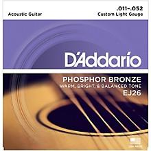 D'Addario EJ26 Phosphor Bronze Custom Light Acoustic Guitar Strings