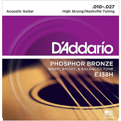 D'Addario EJ38H High Strung/Nashville Tuning 10-27 Acoustic Guitar Strings thumbnail