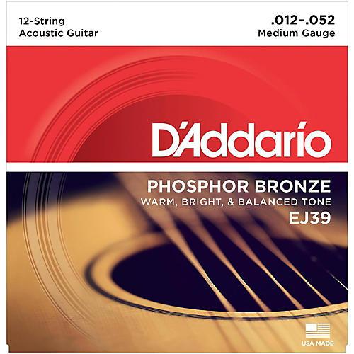 D'Addario EJ39 PB Medium 12-String Acoustic Guitar String Set thumbnail