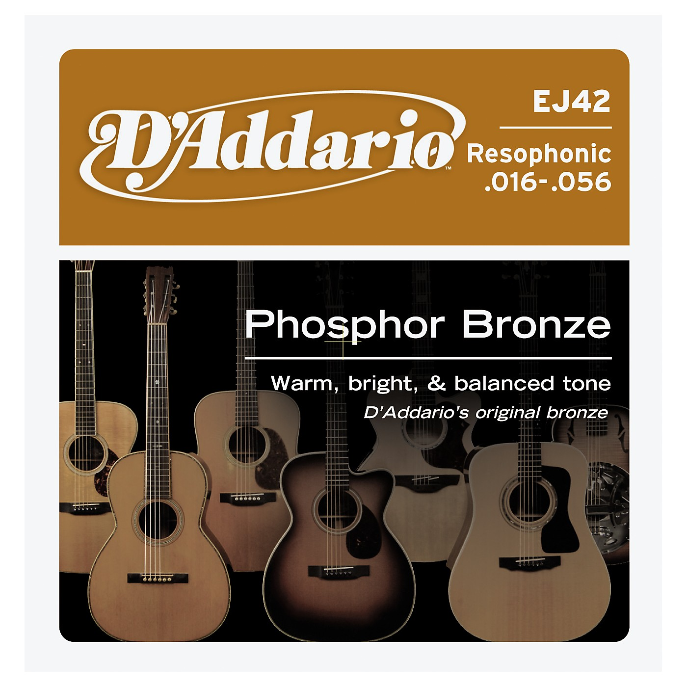 D'Addario EJ42 PB Resophonic String Set thumbnail