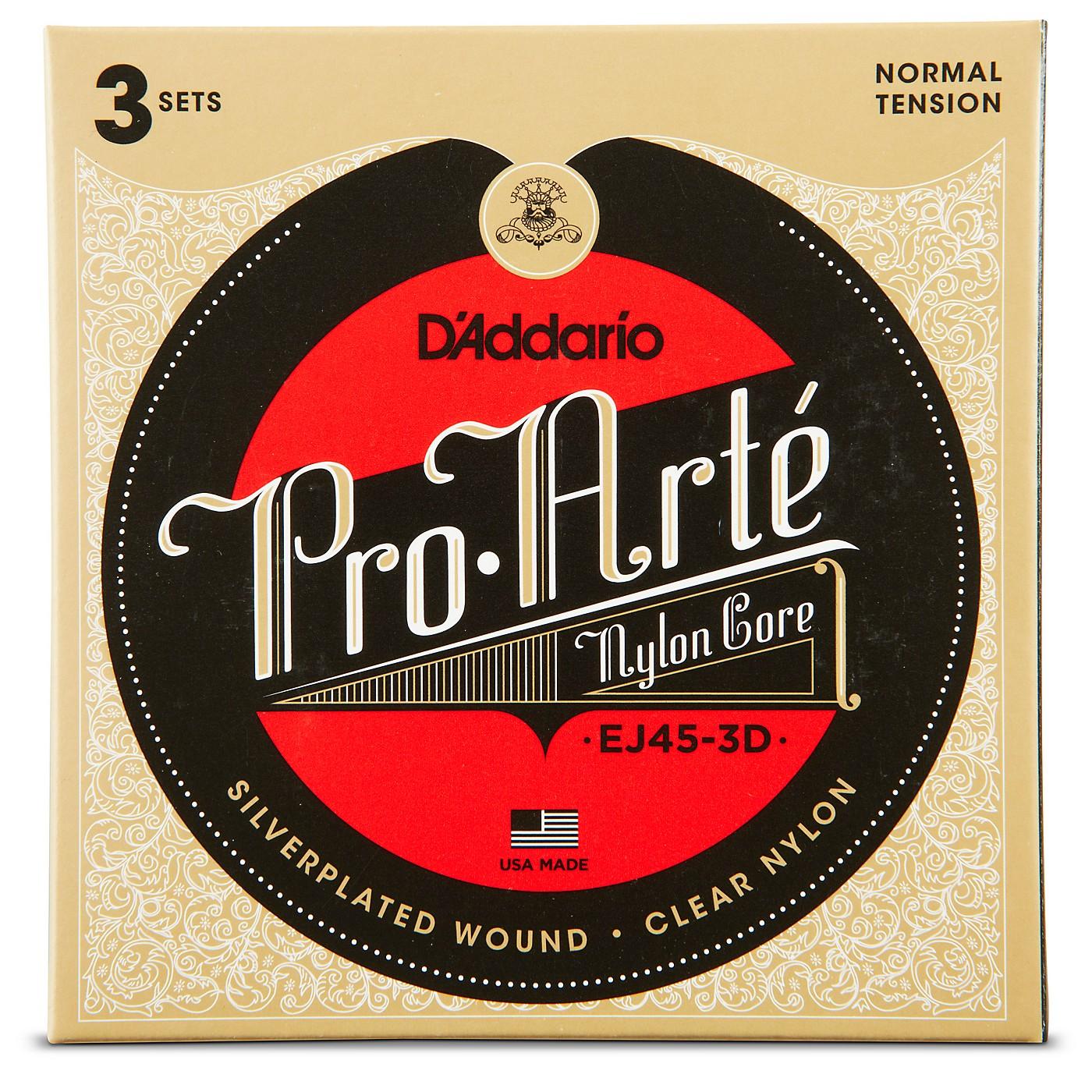 D'Addario EJ45 Pro-Arte Classical Guitar Strings 3-Pack thumbnail