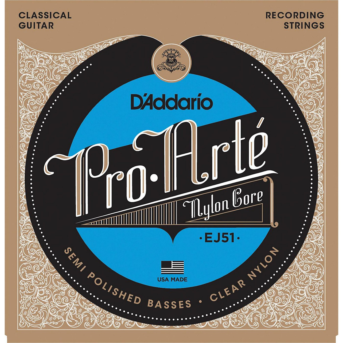 D'Addario EJ51 Pro-Arte Semi Polished Basses Hard Tension Classical Guitar Strings thumbnail