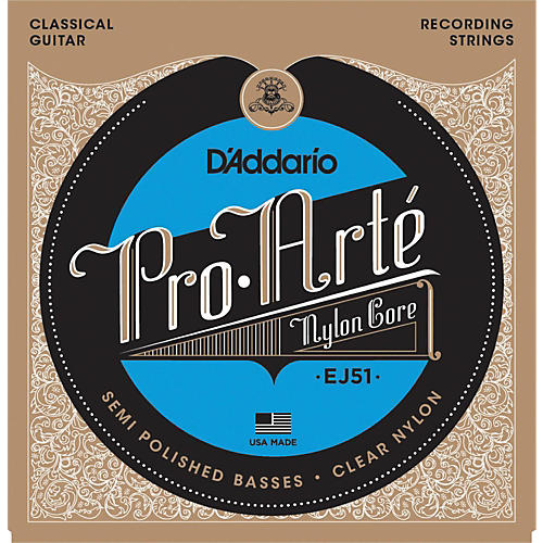 D'Addario EJ51 Pro-Arte Semi Polished Basses Hard Tension Classical Guitar Strings thumbnail
