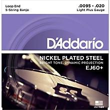 D'Addario EJ60+ Nickel Light Plus 5-String Banjo Strings (9.5-20)