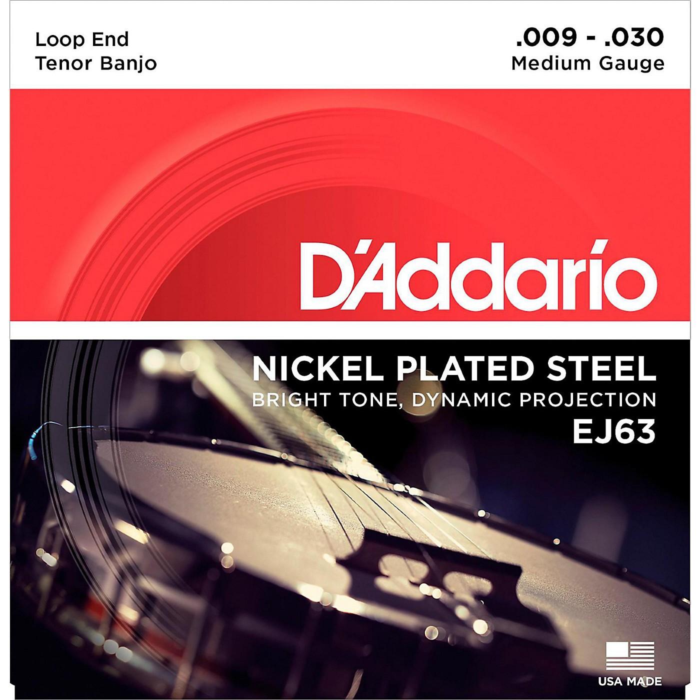 D'Addario EJ63 Nickel Tenor Banjo Strings (9-30) thumbnail
