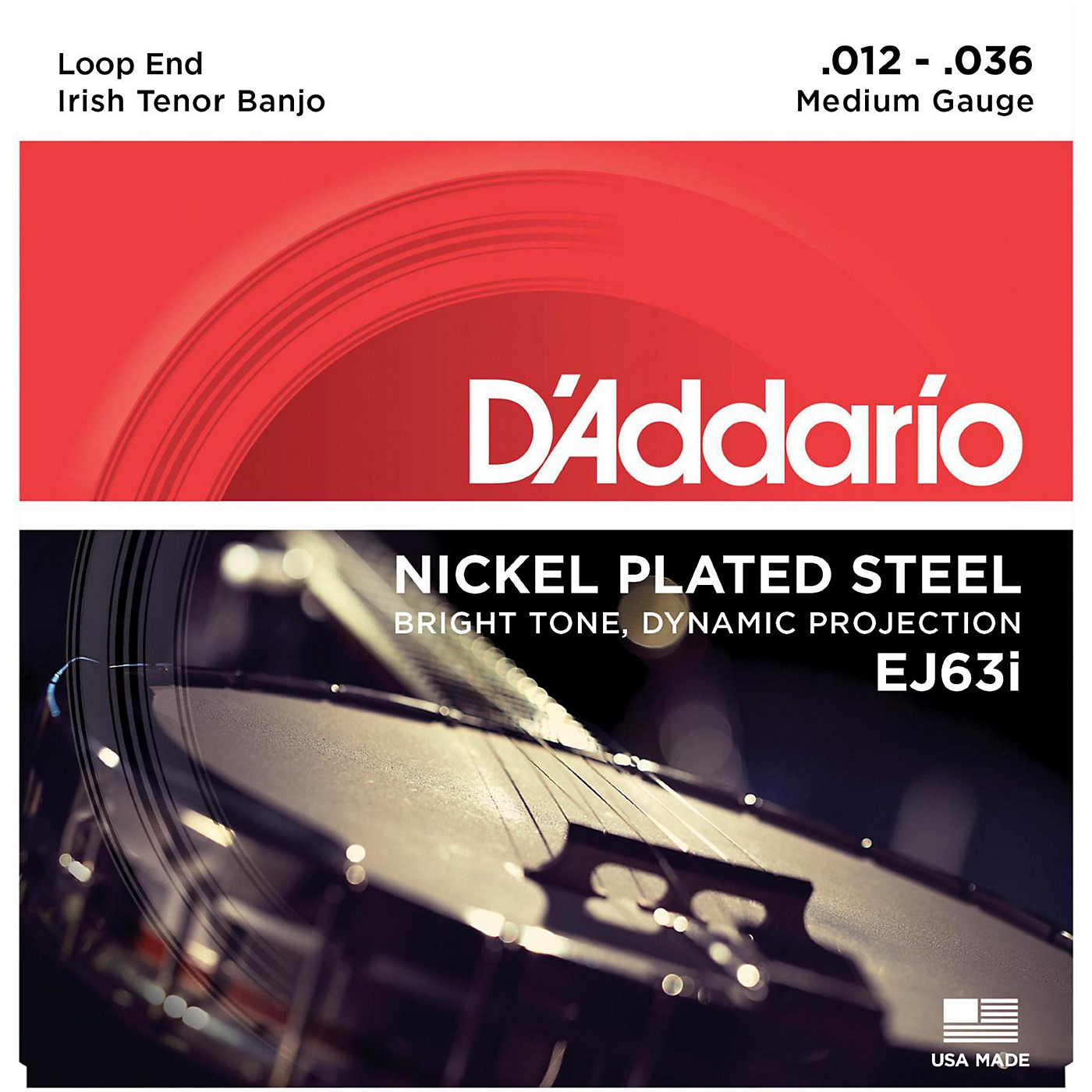 D'Addario EJ63i Nickel Irish Tenor Banjo Strings (9-30) thumbnail